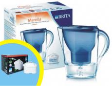 Brita Marella cool modrá + 4 ks filtrů Logic